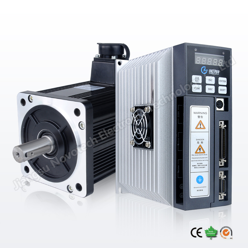 nema 52 China high accuracy AC servo motor with driver 220V